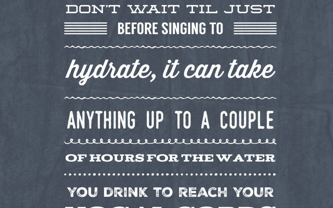 #VocalTipsTuesday – Water